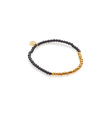 Silk & Steel Bracelet Party At The Front Black / Gold