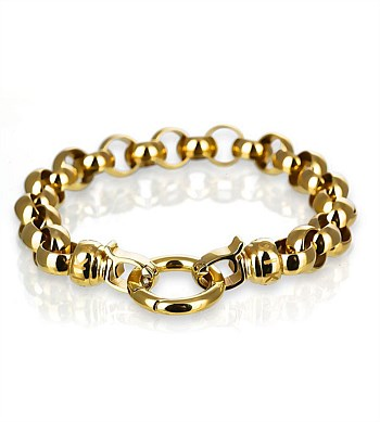 Gold Steel Md Bracelet